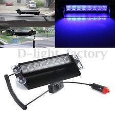 8 LED Blue Emergency Vehicle Car Strobe Flash Light Dash Warning Lamp DC 12V