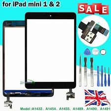 Touch Screen For iPad mini 1 & 2 Glass Digitizer IC Cable Home Button Black UK