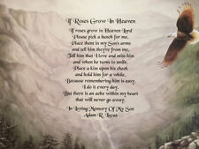 Memory of Son Sympathy Gifts Memorial Poem Condolence Gifts Mountains Eagles