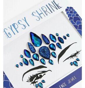 Gypsy shrine Mera face jewels Halloween Make Up Mermaid Sea Creature