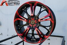 17X7 +35 GLINE G667 5X100 RED WHEEL Fit Dodge Neon Srt4 Forester Outback WAGON