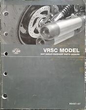 Official 2007 Harley-Davidson VRSC Model V-ROD Parts Catalog P/N 99457-07