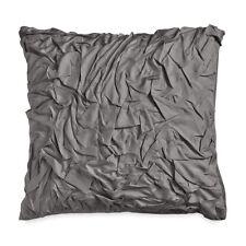 $375 Nip Donna Karan 100% Silk Essential Euro Pillow Sham Designer Charcoal Gray