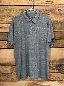 Mens Grunt Style Short Sleeve Polo shirt Sz XXL 2XL Grey
