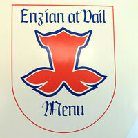Vintage Enzian Restaurant Menu - Vail, CO