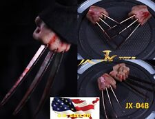 ❶IN STOCK❶1/6 Wolverine Logan metal bloody claw hands realistic hair worldbox