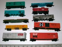 Lot of 10 Vintage TYCO, Bachmann & Other HO Scale Freight Train Railroad Cars