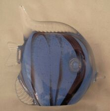 BLUE REEF FISH GLASS ORNAMENT POLISH GLASS MADE IN POLAND 103203 NEW