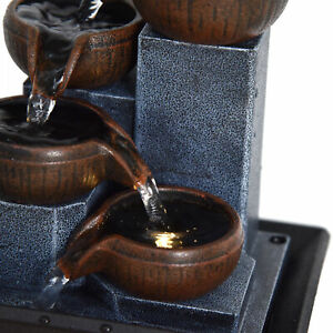 Indoor Tabletop Water Fountain Flowing Water Waterfall Feng Shui Home Office ND2