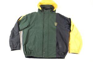 Vintage 90s Nautica Mens 2XL Spell Out Reversible Color Block Parka Jacket
