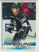 2019-20 Upper Deck Update Young Guns Rookie 525 Kale Clague Los Angeles Kings