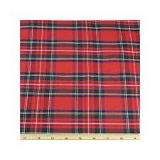 Poly Cotton Red Tartan Dressmaking Craft Fabric