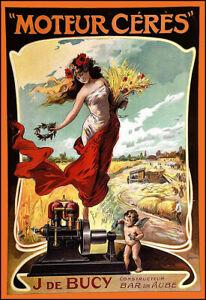 Farming Motor Moteur Cérès J de Bucy  Bar sur Aube Tractor  Art Poster Print