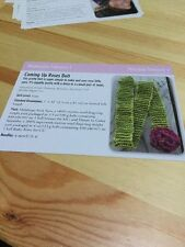 Coming Up Roses Belt Knitting Pattern - Easy