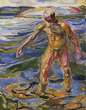 Munch Edvard Bathing Man Print 11 x 14   #4668