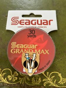 Seaguar Grand Max Riverge Salmon Trout & Saltwater Fluorocarbon Leader Material