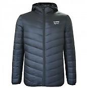 Lee Cooper Mens Navy Blue Down Jacket Lightweight Coat UK Size Medium