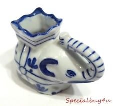 Elephant Figurine Tooth Pick Holder Kitchen Ware Blue & White Porcelain