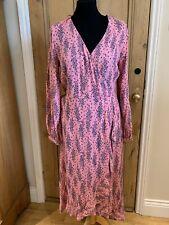 M&S PER UNA Pink Fixed Wrap Floral Midi Dress Sizes UK 10 12 20 BNWT RRP £49.50