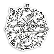 2 x 10cm Armillary Sphere Vinyl Stickers - Vintage Compass Laptop Sticker #31729