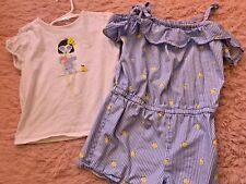 Janie and Jack girls romper size 7 and matching top