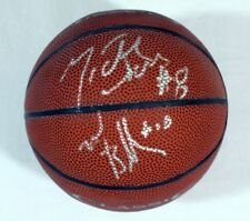 Mike Bibby and Michael Dickerson Dual Autograph signed Mini Basketball