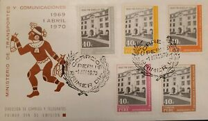 O) 1970 PERU, MINISTRY OF TRANSPORT AND COMMUNICATIONS, BUILDING, FDC XF