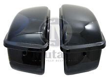 Mutazu Vivid Black Hard ABS Saddlebags for Harley Sportster XL 1200 883 models