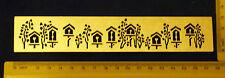 Border Arrampicata Fiore Birdhouse Stencil METAL rilievo a fiori NUOVO