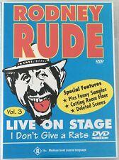 RODNEY RUDE Live on Stage VOL 3 DVD Region 4 PAL