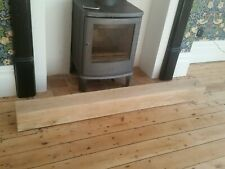 Solid Oak Beam Floating Shelf Mantle Piece Fire Place Surround Sanded Log Burner