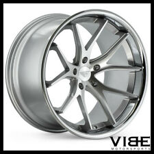 """19"""" FERRADA FR2 SILVER CONCAVE WHEELS RIMS FITS FORD MUSTANG GT"""