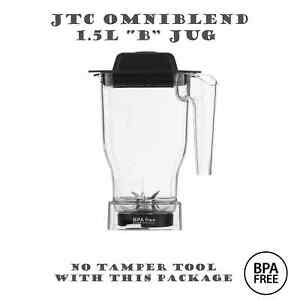 JTC OmniBlend, Saro, ProBlend Bio Chef BPA Free 1.5L (B) Jug Blender Pitcher Cup