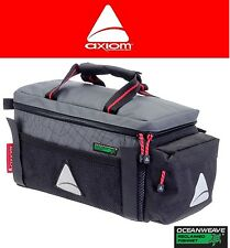Axiom Seymour Oceanweave P9 Bike Trunk Rack Bag Gear Black & Grey Rear Pack NEW