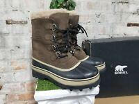 NIB Sorel Men's Caribou Bruno Brown Winter Boots -40C/-40F WATERPROOF Pick Size
