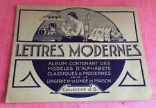 VINTAGE FRENCH EMBROIDERY MAGAZINE 'LETTRES MODERNES' 1952 24 PAGES