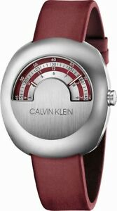 Calvin Klein Glimpse K9M311UP Stainless Steel Case Red & Silver Dial Swiss Made