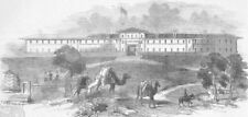 KÜTAHYA . Barrack, where Kossuth was imprisoned, antique print, 1851