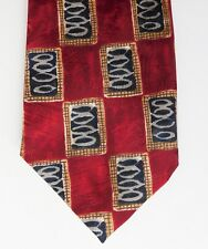 Red check tie by Burton Mens Wear vintage 1980s 1990s UK made