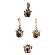 Authentic Ottoman style sterling silver jewelry sets for women ZB2032