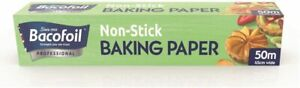 Baco Baking Parchment Paper 50M x 450mm Professional Catering Kitchen TIN FOIL
