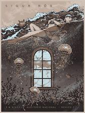 Sigur Ros Mexico City 2017 Silkscreen Concert Poster Art Alex Wezta