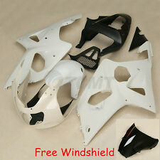 Injection Unpainted ABS Fairing Bodywork Kit For Suzuki GSXR1000 2000-2002 01 K1