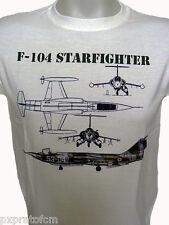 T-shirt Militare Maglietta Aeronautica Militare F-104 Starfighter Bianco Cotone