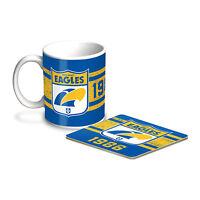 West Coast Eagles AFL Coffee Mug & Coaster GIFT PACK Fathers Day *Latest Design*