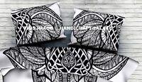 Elefante Indiano Stampa Cotone Letto Cuscino Decorativo Copertura Federe Coperta