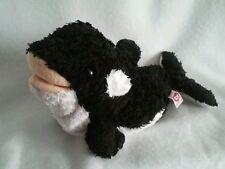 Ty Tysilk Plush 2002 Orka Killer Whale Black White Beanbag
