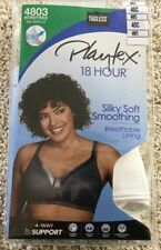 NWT Bra Playtex 18 Hour 4803 Silky Soft Smoothing Wirefree Breathable White 40C