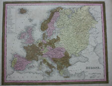 Original Antique Map Europe German CONFEDERATION Mitchell, Doppler c.1860