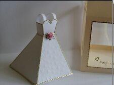 3D WEDDING DRESS KEEPSAKE GIFT PAPER CARD TEMPLATE